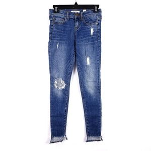 3/$35 SP Black Label Frayed Hem Ankle Jeans